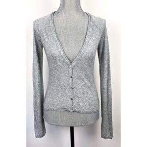 JOIE Gray Button Down Cashmere Blend Cardigan